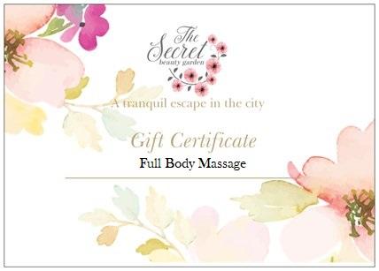 massage voucher edinburgh