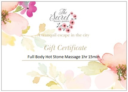 Hot stone massage edinburgh gift voucher