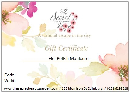 gel manicure edinburgh gift voucher